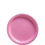 Platos pequeños rosa claro - Platos de cartón 18cm