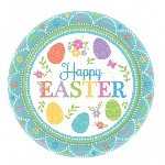 Platos de Pascua Encantadora - Platos de Papel para Fiesta 17cm