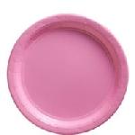 Platos rosa claro-Platos de papel 23cm