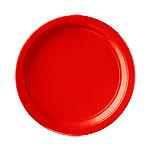 Platos Rojos de papel de fiesta 23cm
