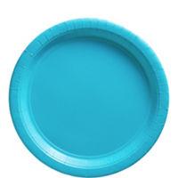 Platos azul turquesa-Platos de papel de 23cm