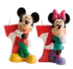 Velas Mickey and Minnie N�7