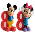 Velas Mickey and Minnie N�8