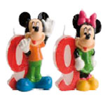 Velas Mickey and Minnie N�9