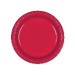 Platos 17.7cm Rojos De Plastico