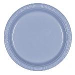 Plato Plastico 22.8Cm Azul Pastel Nuevo