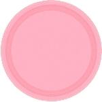 Plato Plastico 22.8Cm Rosa Pastel Nuevo