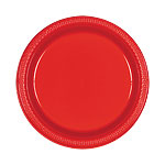 Platos 22.8cm Rojos De Plastico