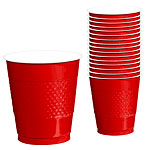 Vasos 355ml Rojos De Plastico