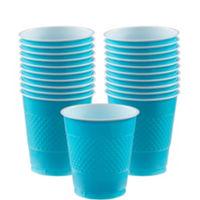 Vasos 355ml Azul Caribe de Plastico