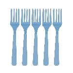 Tenedores Azul Caribe de Plastico