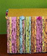 Falda de papel tissue floral para mesa- Decoración hawaiana 3m
