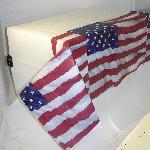 Mantel Plástico con la Bandera de Estados Unidos - 1,4m x 2,6cm
