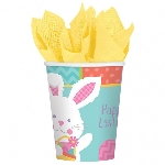 Vasos de Pascua Conejito Hippy Hop - Vasos de papel 255ml