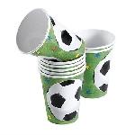 Fiesta Campeonato de Fútbol - Vasos de Papel 266ml