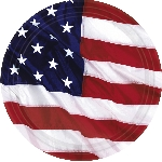 Platos Bandera Estados Unidos de América - Platos de Papel para Fiesta 26,6cm