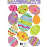Decoraciones Huevos de Pascua con Purpurina para Ventana - 45cm