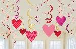 Espirales Colgantes San Valentín