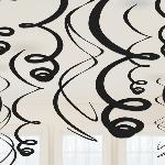 Remolinos decorativos negros para colgar-55cm