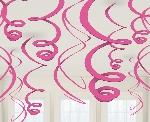 Remolinos decorativos en rosa-55cm