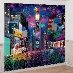 Kit Decoración pared Tema Times Square Año Nuevo - 2.5m