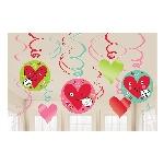 Pack económico de Decorados espirales de corazones con caras