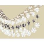 Decor. Colg. Foil:Copos De Nieve 3. 6M