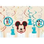 Decor. Colg. Espiral Mickey 1 Año