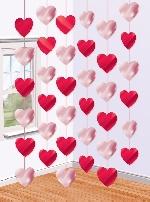 Decoraciones hilos colgantes con Corazones de San Valentín - 2.1cm