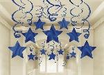 Decoracion Colgante Blue Swirl Party Pack Shooting Stars