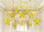 Espiral colgante decorativa Gold Star-60cm