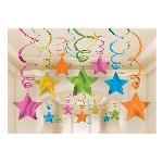 Remolinos decorativos multicolores en forma de estrella-60cm