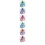 Columna Cascada Decorativa Cumpleaños 60 2,1m