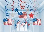 Remolinos Colgante Decorativos Estrellas USA