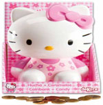 HUCHA HELLO KITTY CON CARAMELOS