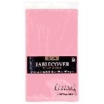 Mantel de plástico rosa claro-1.4m x 2.8m