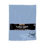 Mantel Plástico Azul Bebé Falda de Mesa - 73cm x 4,2m