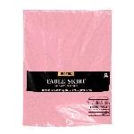 Falda de mesa de plástico rosa claro-73cm x 4.2m