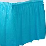 Falda de mesa de plástico turquesa-73cm x 4,2m