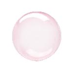12 / 30cm Clearz Petite Cristal Rosa Fuerte