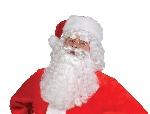 Set de barba y peluca de papá Noel - Blanco