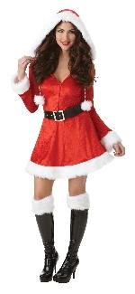 Señorita Papá Noel pícara y Coqueta - Disfraz de Navidad para mujer - Adulto 18-20