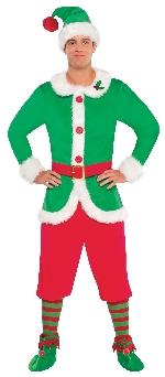 Duende del Polo Norte - Disfraz de Navidad para Hombre - Adulto Pecho 101-111