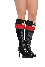 Acc. Disfraz Adulto Santa Boot Cuffs