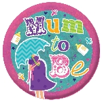 Medalla Grande Holográfica Futura Mamá - 15cm