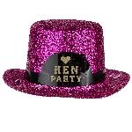 Mini Sombrero Purpurina Rosa ''Hen Party''