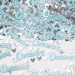 Confeti Papel Picado para Mesa de Bautizo - Azul