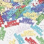Confetti multicolores Happy Birthday
