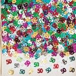 Confeti de mesa o para invitaciones con el número 50 - Decoración