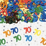 Confeti Multicolor para Mesa o Invitaciones Cumpleaños 70